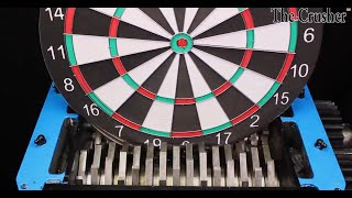 Turbo Shredder VS Giant Dart Board Satisfying The Crusher