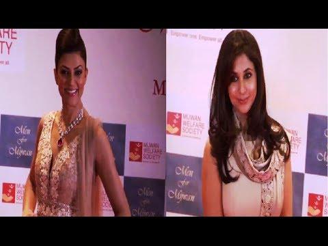Sushmita Sen and Urmila Matondkar at MEN FOR MIJWAN fashion show. thumbnail