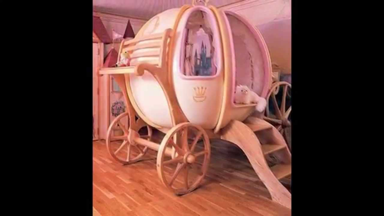 Princess Carriage Beds For Girls Bedroom By Optea Referencement.com    YouTube