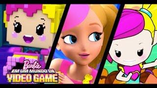 Trailer de Barbie™ Em um MUNDO de VIDEO GAME | Barbie Em um Mundo de Video Game | Barbie