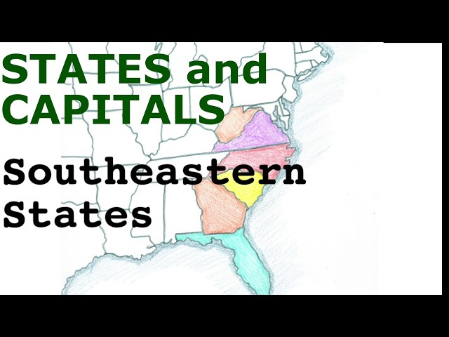 US States and Capitals, Southeastern States