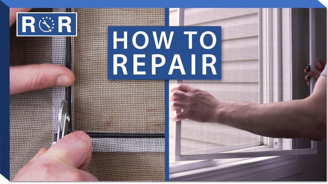 How To Replace A Window Screen Repair