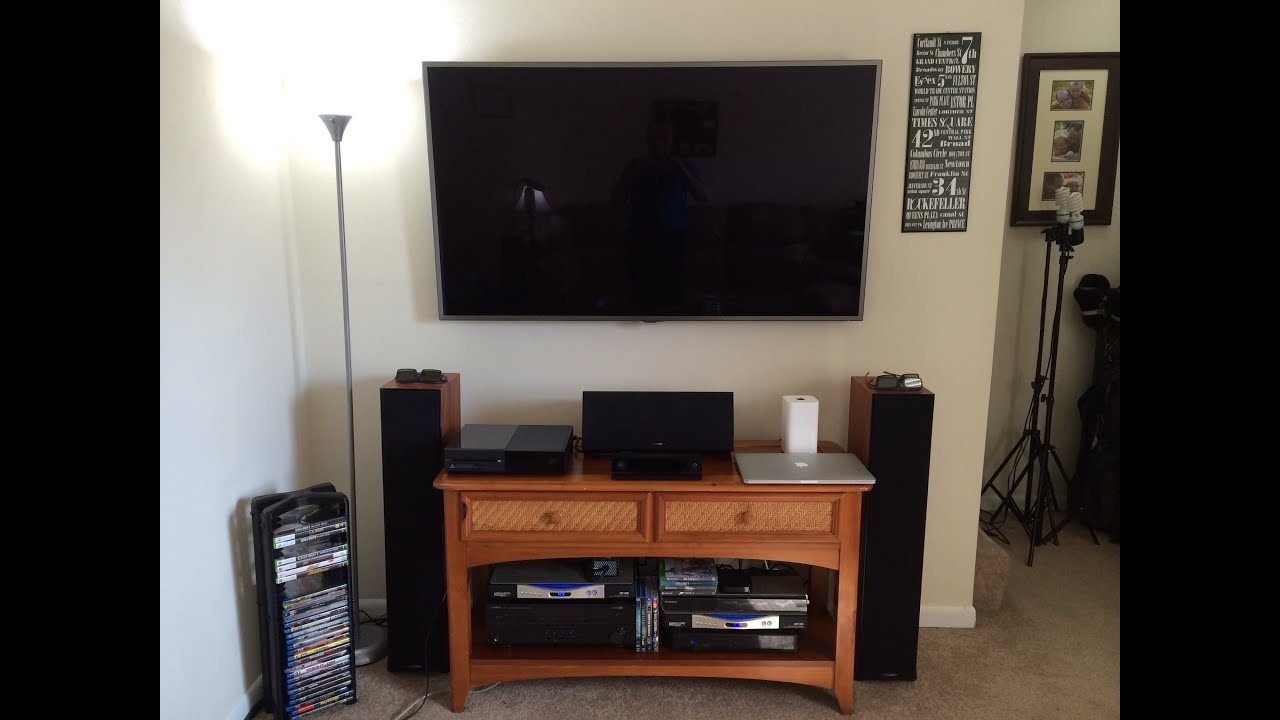Ultimate 60 gaming setup 2014 3d home theater youtube for Home theater setup ideas