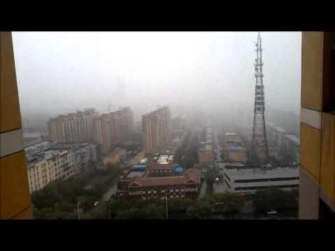 Heavy heavy rain in Tianjin 140622, x16.
