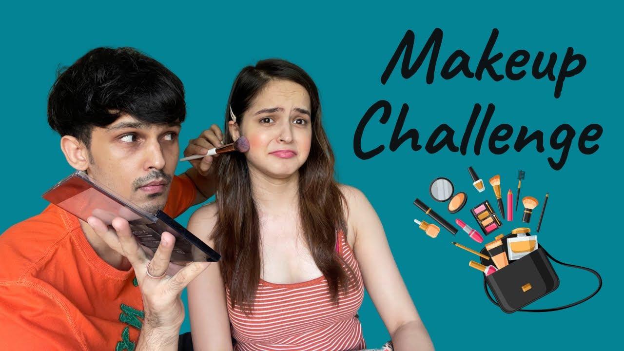 Makeup Challenge Ft. My Brother | Palak Sindhwani