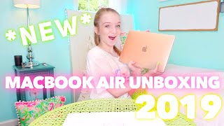 NEW MACBOOK AIR UNBOXING 2019 AND SETUP | Bryleigh Anne