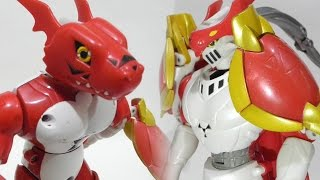 Digimon Toy Action Figure Review(Transformation)-Guilmon to Dukemon(Gallantmon)(ギルモン進化デュークモン)