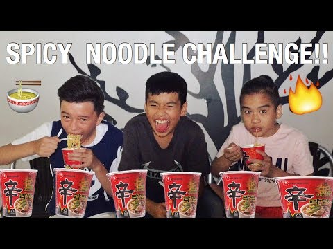 SPICY NOODLE CHALLENGE FT. LUKE & AJ !!! **EXTREMELY SPICY** || TEAM YEY BOYS