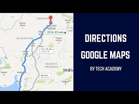 Show Directions | Google Maps Tutorial (Android Tutorials) - YouTube