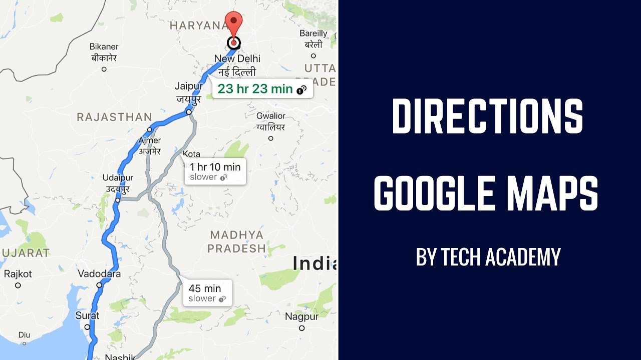 Show Directions | Google Maps Tutorial (Android Tutorials)