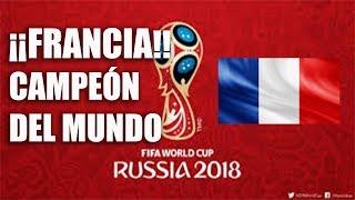 Francia campeón del mundial de Rusia 2018 (Francia derrota 4-2 a Croacia en la final)