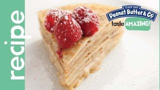 White Chocolate Peanut Butter Crepe Cake Recipe