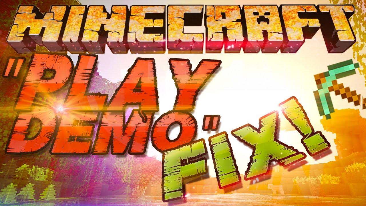 Play Demo Fix Minecraft Error Tip Tutorial Zur Fehlerbehebung - Minecraft demoversion spielen