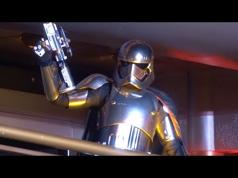 """March of the First Order featuring Captain Phasma """"Star Wars"""" FULL FIRST SHOW at Disneyland"""