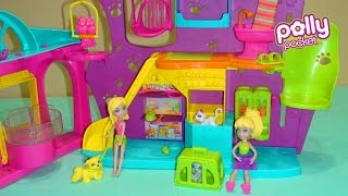 Polly Pocket Playtime Pet Shop - Unboxing Playset - Pig Boss Toy