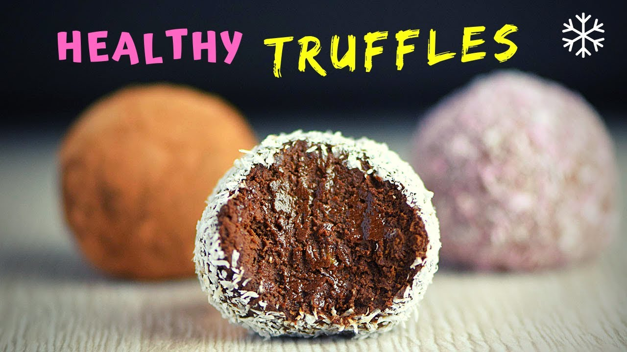 Healthy Chocolate Truffles (2 ways!)