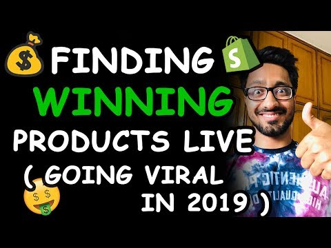 Finding Winning Products LIVE || Shopify Dropshipping 2019 thumbnail