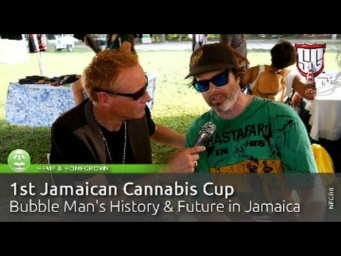 Bubble Man's History & Future in Jamaica - 1st Jamaican Cannabis Cup - Smokers Guide TV Jamaica