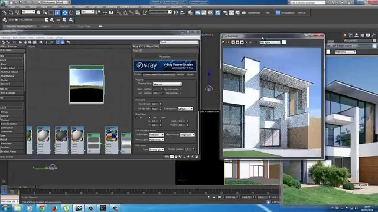 Render Hdri 3dsmax Exterior Visualization Youtube