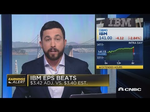 IBM falls on mixed earnings results
