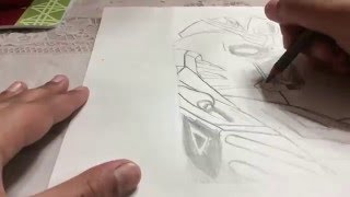 Speed drawing Gundam Wing part 2