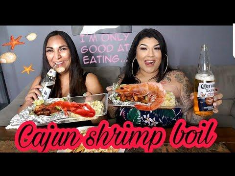 Cajun style Seafood shrimp tacos and Old Friends MUKBANG