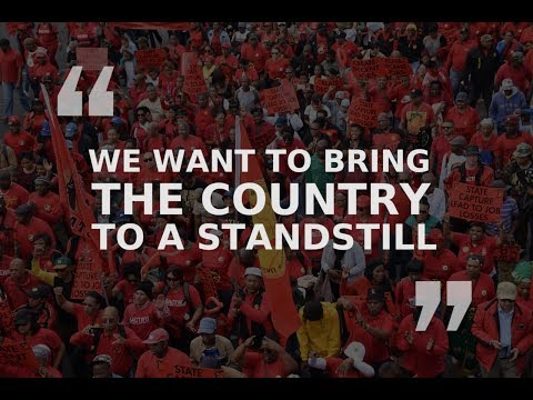 SAFTU Protest Against The National Proposed Minimum Wage 25 April 2018