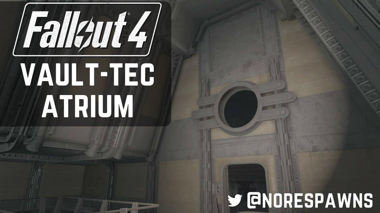 Fallout 4 Vault Tec Workshop Atrium 1x2 Size Rooms