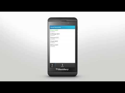 Wi-Fi & Bluetooth Connections: BlackBerry Z10 - Official How To Demo