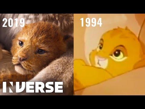 The Lion King Teaser Shot for Shot Comparison (2019, 1994) | Inverse