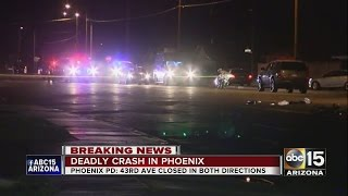Bicyclist killed after being struck by car in Phoenix