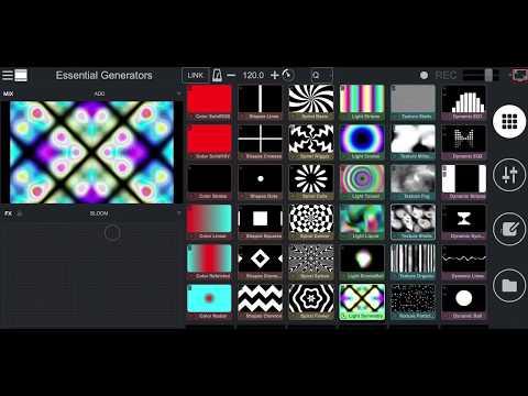 Remixvideo 1.3 Beta - Tweaking generators with parameters