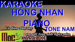 [KARAOKE PIANO] HỒNG NHAN - Jack x Liam | BEAT PHỐI By Liam