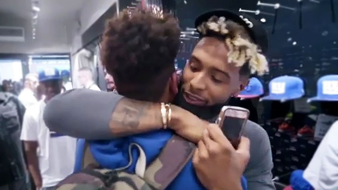 Odell beckham jr comforts crying fan youtube m4hsunfo