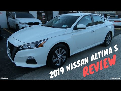 2019 NISSAN ALTIMA S REVIEW (BASE) - ALL NEW MIDSIZE SEDAN !