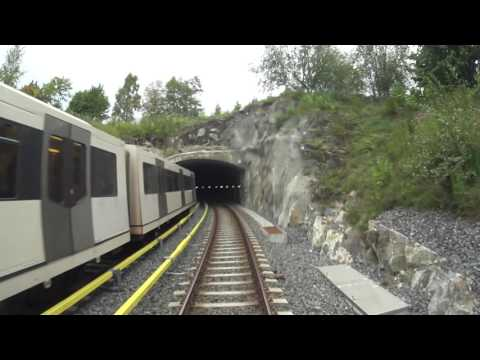 Cabview Line 3 east-west  / Oslo metro / Oslo T-bane / MX3000 full ride