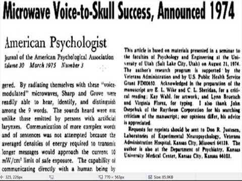 VOICE TO SKULL TECHNOLOGY 1970'S