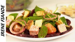 Лёгкий и полезный Салат со свеклой. Салат без майонеза для правильного здорового питания!