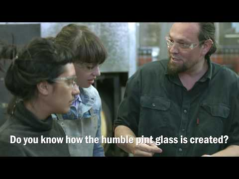 See how the humble pint glass is made at the Canberra Glassworks