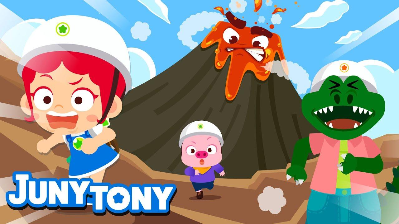 Volcano Adventure | Adventure Songs for Kids | Preschool Songs | JunyTony