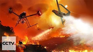 California firefighters use drones to aid rescues