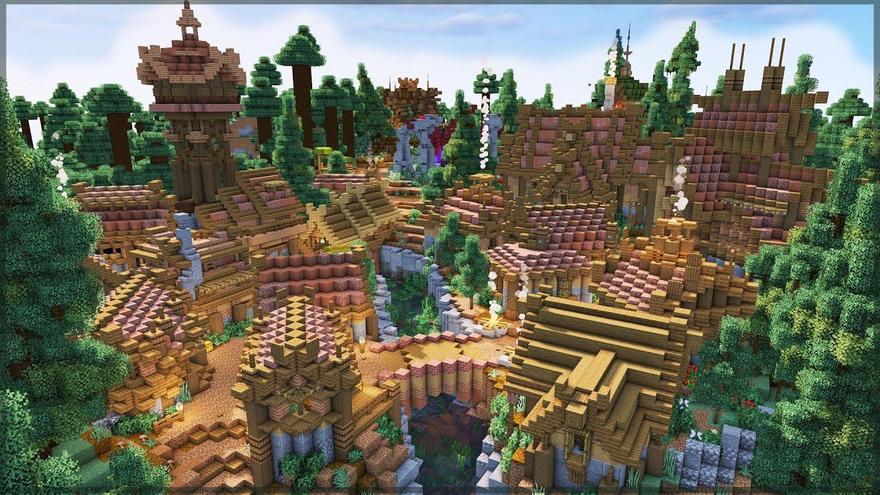 Building a Minecraft Village! | Build Timelapse