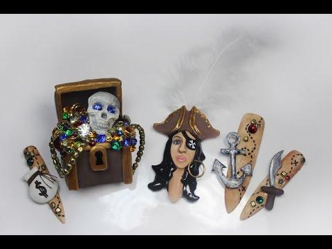 3D Pirate Nails- Next Top Nail Artist Challenge #2