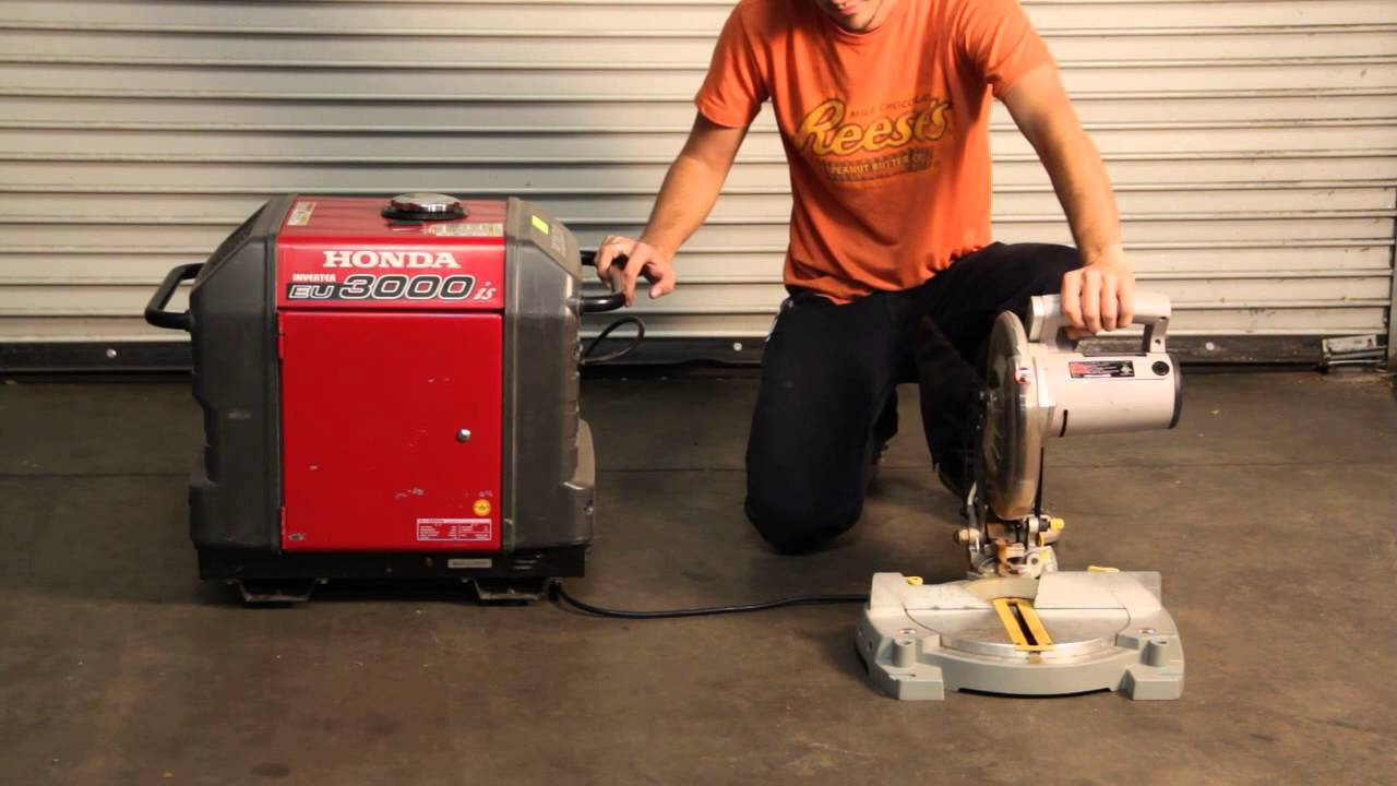 Honda EU3000is Generator Inverter 6.5hp 3000 Watt 120V - YouTube