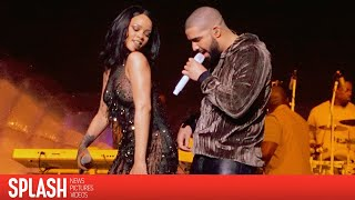 rihanna and drake get steamy on stage splash news tv