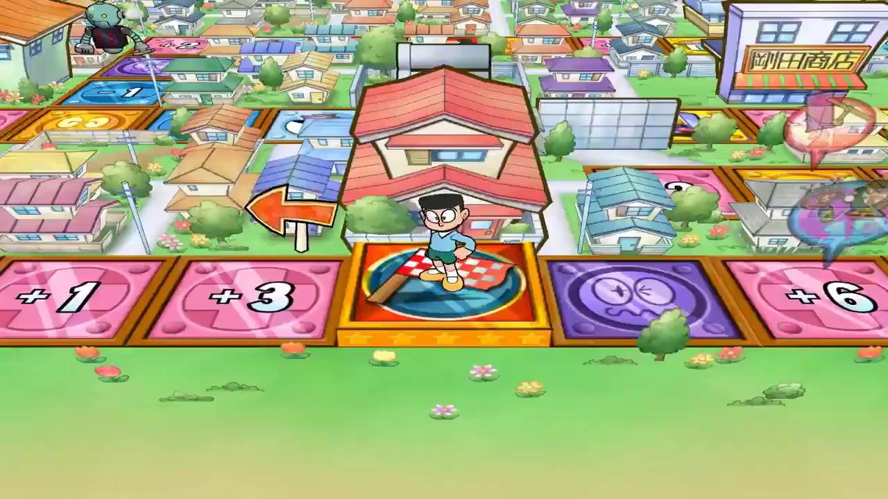 Doraemon Wii Game-Doraemon Nobita Jaian Suneo Play Monopoly  – ドラえもんそしてモノポリー
