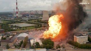 Пожар на электростанции в Мытищах помогали тушить королёвские спасатели