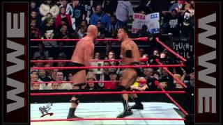 "Kurt Angle vs. ""Stone Cold"" Steve Austin vs. The Rock vs. Rikishi - Fatal 4-Way WWE Championship Mat"
