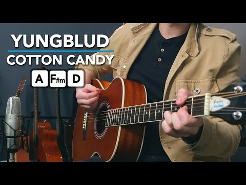 "Yungblud ""Cotton Candy"" acoustic guitar lesson tutorial"