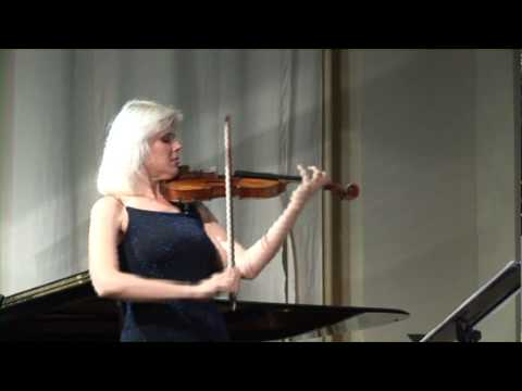 Ravel Violin Sonata (2nd movement Blues) by Clara Cernat and Thierry Huillet live